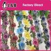 Merletto colorato ricamato floreale dei testi fissi