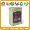 مستطيلة سدودة قهوة قصدير مع معدن مشبك وسلك إغلاق
