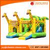 Girrafe aufblasbares springendes federnd Schloss mit Plättchen-kombiniertem Spielzeug (T3-617)