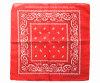 中国の工場OEMの農産物のカスタム二重側面は赤いペーズリーの綿のバンダナのスカーフを印刷する
