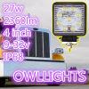 As luzes de condução auxiliares 27W do diodo emissor de luz do quadrado fora da luz do trabalho das luzes de condução 27W do diodo emissor de luz da estrada Waterproof a lâmpada do diodo emissor de luz do IP 68