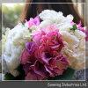 装飾的な紫色の安のアジサイファブリック卸売の人工花