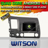 Carro DVD do Android 4.4 de Witson para Honda Civic 2006-2011 com sustentação do Internet DVR da ROM WiFi 3G do chipset 1080P 8g (W2-A6910)