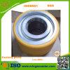 Roda resistente extra do rodízio do plutônio da borda de aço contínua