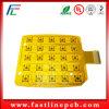 Placa de circuito flexível amarela personalizada com material de Polyimide