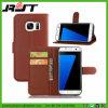 Caja de cuero del teléfono de la PU de los accesorios móviles para el borde de Samsung S7