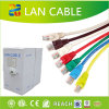 Cuatro pares de LAN del cable CAT6 del cable de la red