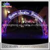 Archway interno e ao ar livre da multi cor do uso do Natal do motivo