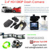 Gravador de vídeo Rotable DVR de barato 2.4  Digitas da câmera do carro da caixa negra do carro da tela com um ângulo de 120 graus, diodo emissor de luz DVR-2441 da câmara de vídeo do traço da visão noturna 6PCS
