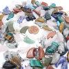 El collar cristalino de la piedra de gema del color del claxon multi del buey encanta los colgantes
