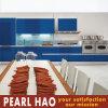 Design moderno laca Fosco Azul de armário de cozinha