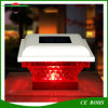다채로운 태양 기둥 램프 태양 강화한 담 빛이 옥외 정원 밤 빛 조경에 의하여 0.5W 점화한다