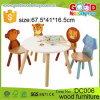 子供の調査表の寝室の家具の木動物の教育子供椅子および表