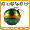Tin van de Bal van de Doos van het Tin van de Gift van Kerstmis van de douane het Verpakkende