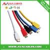 Sustentação de cabo 3D do PVC HDMI e Ethernet