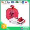 حقيبة أحمر مستهلكة طبّيّ مهدورة مع طباعة