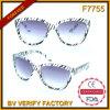 F7755 transparente de plástico projetado comum molduras para óculos de sol