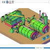 Oil Recycling Machine에 20ton Twin Style Pyrolysis Tyre