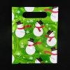 Saco plástico da embalagem dos doces do Natal