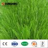 El balompié corteja la hierba artificial de la alfombra al aire libre de la instalación