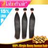 Человеческие волосы горячей девственницы сбываний 9A перуанской прямые, выдвижения волос 100% Unprocessed