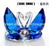 De blauwe Dubbele Ambacht van de Zwanen van het Glas van het Kristal voor de Giften van het Huwelijk