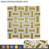 Glass et Stainless en cristal Steel Strip Mosaic Tile