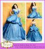 2015 Entwerfer-in voller Länge Ballkleid-Schatz-abnehmbare Jacke Appliqued Taft-königliches Blau-Hochzeits-Kleid (AL20003)