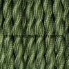 2-Conductor Green Cotton Twisted Wire