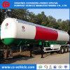 Reboque do petroleiro do Semi-Trailer 50000L LPG do transporte do Tri-Eixo 50m3 LPG