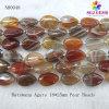 Branelli della pera dell'agata del Botswana per i branelli naturali (NB0048)