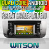 Witson S160 voor GPS Player van FIAT Grande Punto Evo Car DVD met Rk3188 Vierling Core HD 1024X600 Screen 16GB Flash 1080P WiFi 3G Front DVR dvb-t spiegel-Link (W2-M264)
