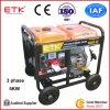 Conjunto pequeno de geradores de diesel portátil com