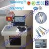Отметка лазера волокна, машина маркировки лазера для алюминия
