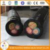 Liste UL 600V 4 coeurs Soow Câble d'alimentation en caoutchouc