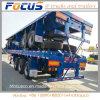 Lit plat Tri-Axles semi-remorque pour 40FT conteneur