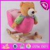 Brinquedo de balanço do contrapeso de madeira, brinquedo de balanço do luxuoso de madeira popular, Giocattolo um Dondolo, brinquedo de balanço de madeira do urso, brinquedo de balanço W16D076