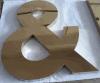 Aço inoxidável da letra Titanium dourada Polished (alguma aprovação da letra)