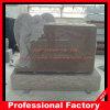 Headstone de cinzeladura superior dos memoriais da escultura do anjo do granito vermelho