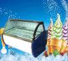 Congelador B6 del helado del escaparate del polo de hielo de Gelato