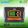 Regulador solar del regulador solar de la carga de Suoer 12V 24V 48V 40A MPPT (SON-MPPT-40A)
