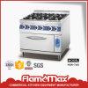 Intervallo di gas indipendente 6-Burner con il forno elettrico per la strumentazione di approvvigionamento (HGR-76E)