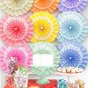 Navidad de la boda Ceterpieces decoración del partido Hanging Ventilador de papel