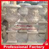 Белым мраморный высеканный камнем Flowerpot сада напольный