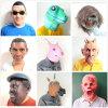máscara animal do carnaval do suporte do partido de Halloween do traje da cara da cabeça de cavalo da zebra 001-Creepy