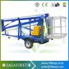 chariot élévateur aérien traîné remorquable de personne du Portable un de 12m 14m
