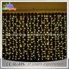 luz de goma de la cortina del negro LED del alambre del uso al aire libre de los 2X3m