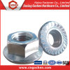 Blue Plated M5~M20를 가진 탄소 Steel Hex Flange Nut