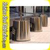 Grand bac extérieur de planteur en métal d'acier inoxydable de modèle moderne