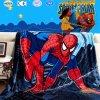 Полный размер Spider Man печать Super мягкая фланелевая подкладка из флиса офсетного полотна